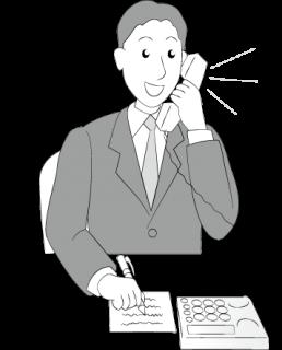 ビジネスマンの電話