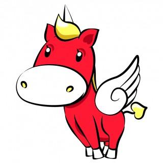 馬のイラスト(ユニコ―ン&ペガサス)