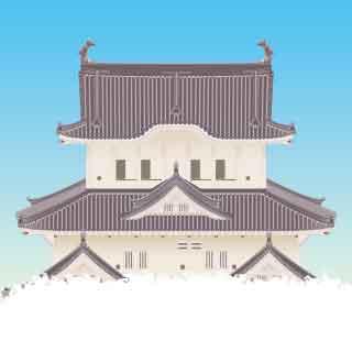 姫路城天守閣イラスト